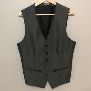 Express grey and black vest. Size M